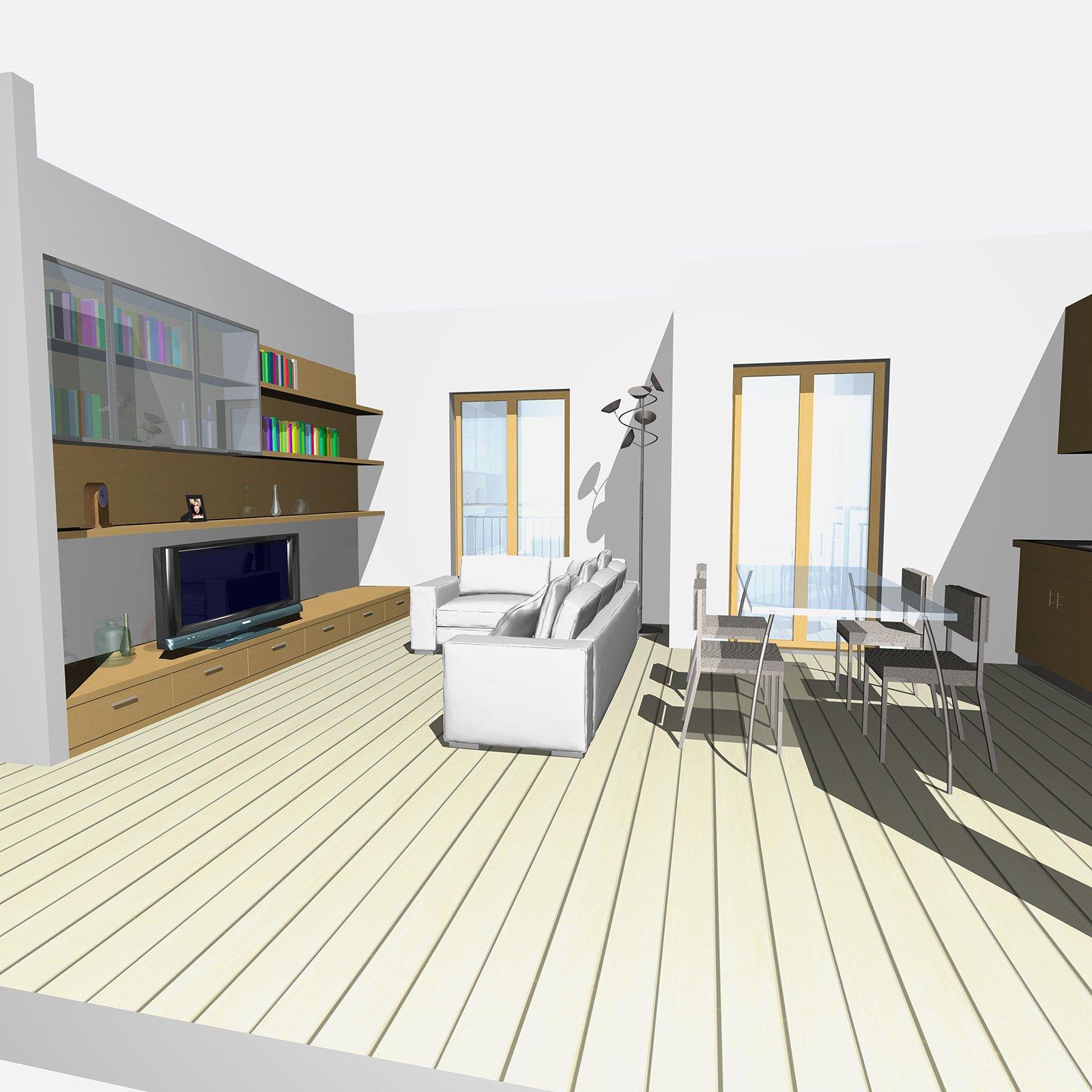 zona giorno open space e bagno più funzionale - cose di casa - Zona Giorno Open Space