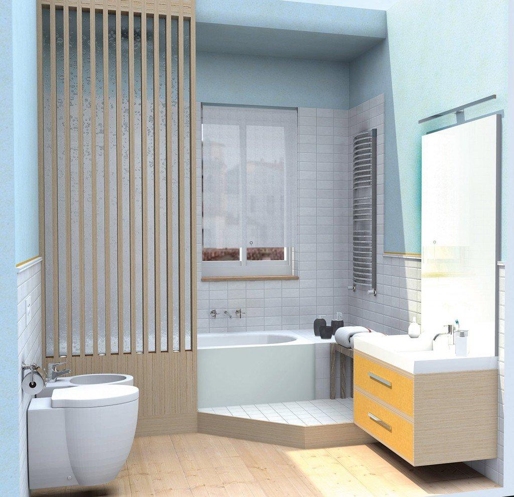 Bagno con pianta del progetto e costi dei lavori terza soluzione cose di casa - Box doccia costi ...