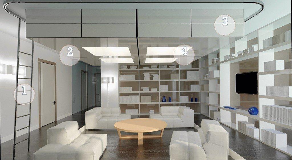 Soggiorno sfruttare l altezza per contenere cose di casa - Altezza parapetti finestre normativa ...