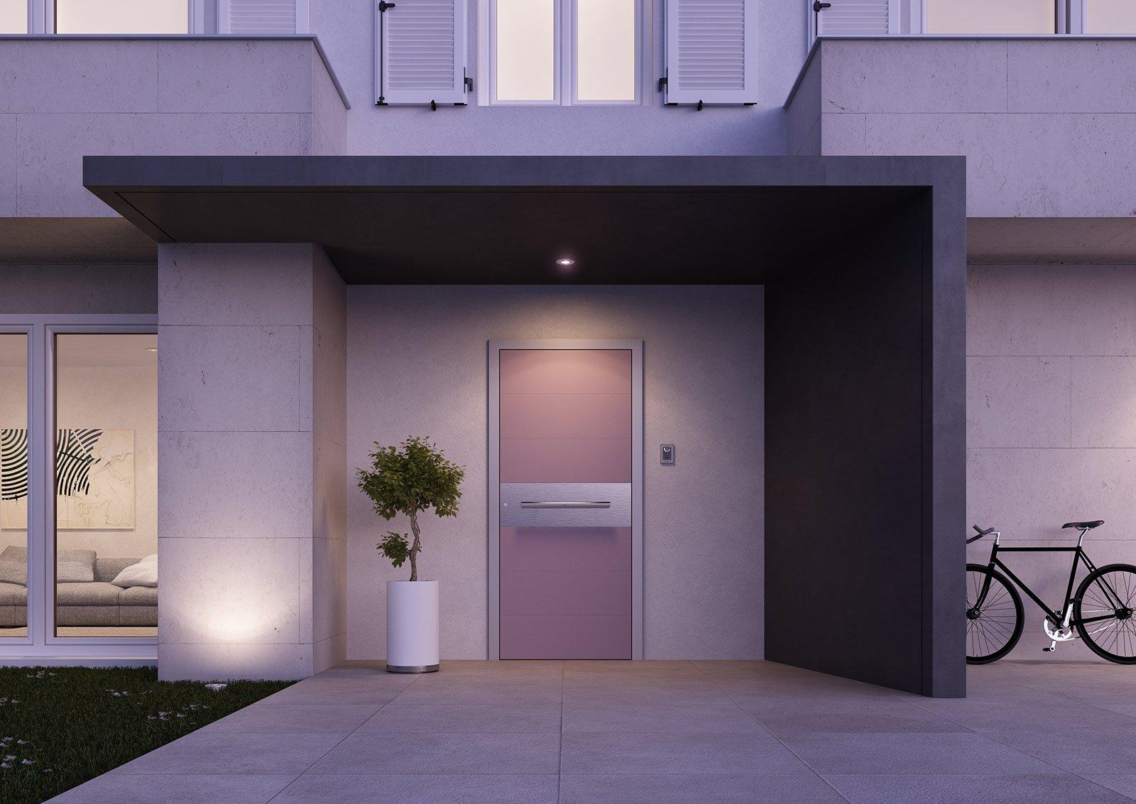cancelli idee porta giardino ideale : La porta blindata Designs Doors Collection di Aluhaus ? dotata di un ...