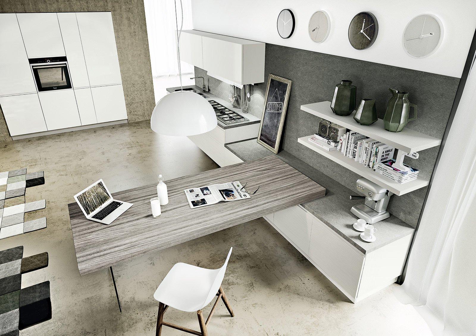 cucine con penisola: le novità - cose di casa - Tavolo Penisola Cucina
