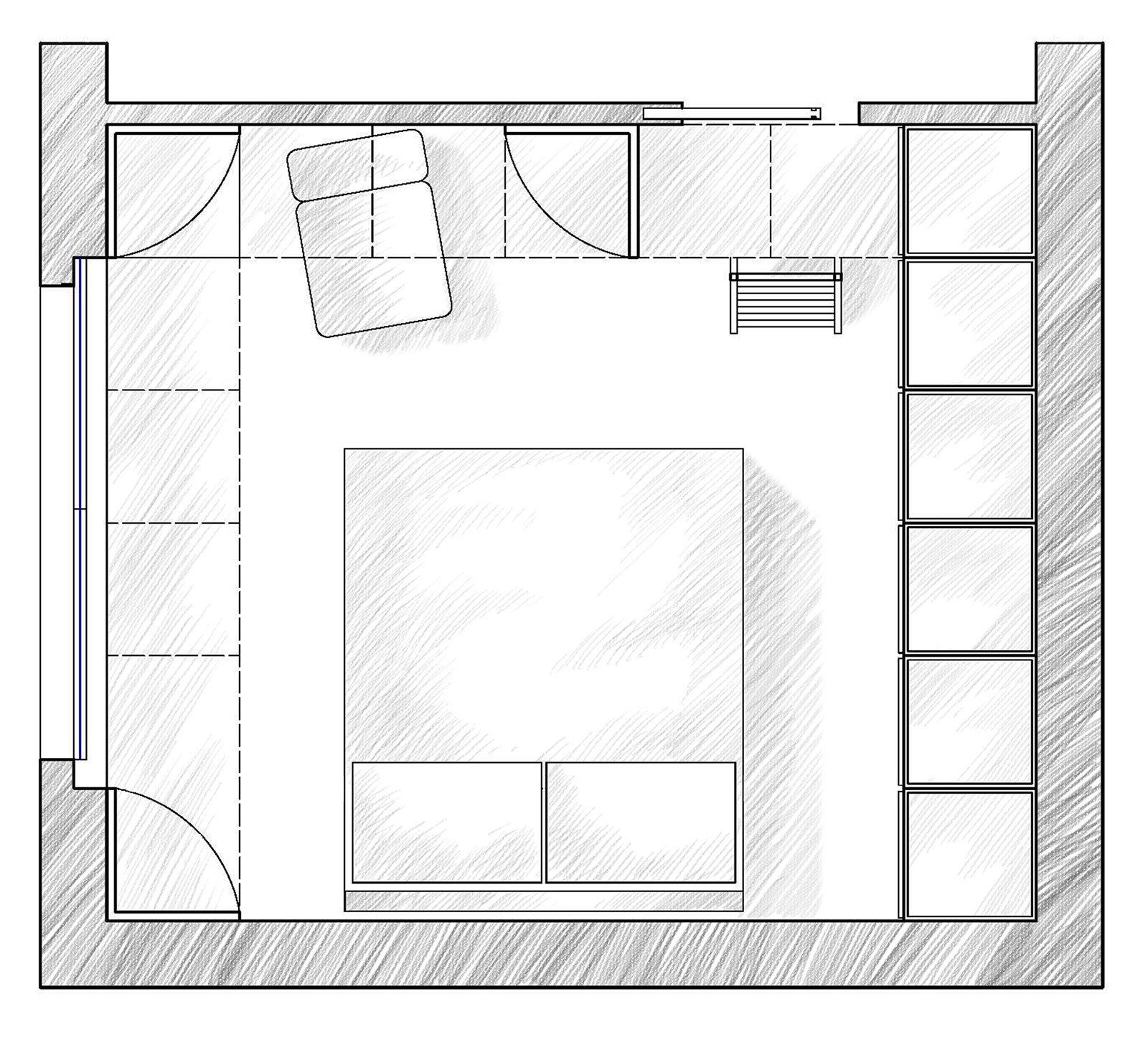 Camera da letto sfruttare l altezza per contenere cose - Progetto camera da letto ...