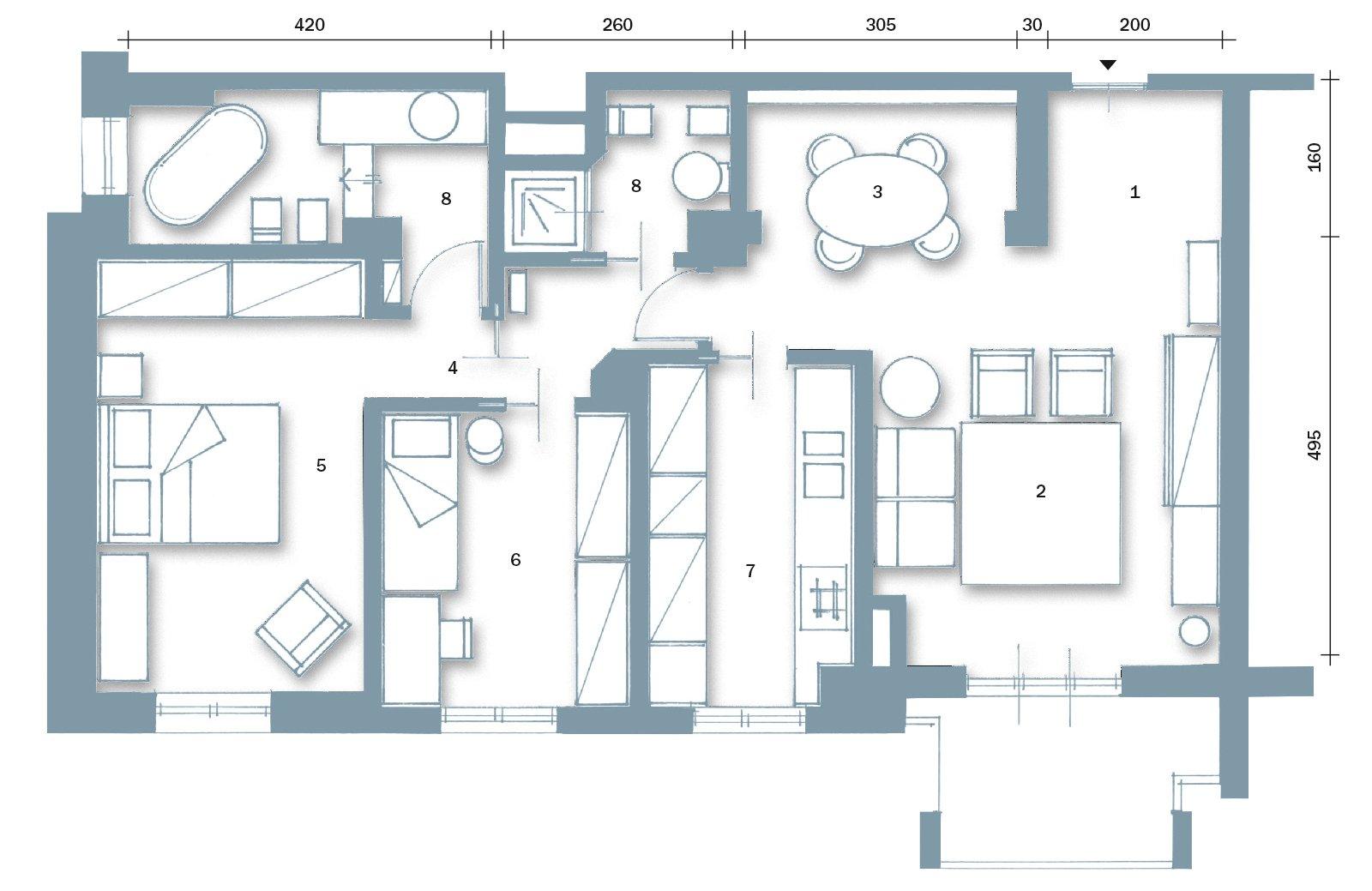 Soggiorno ingrandito e un bagno in pi cose di casa for Disegni di casa piano aperto