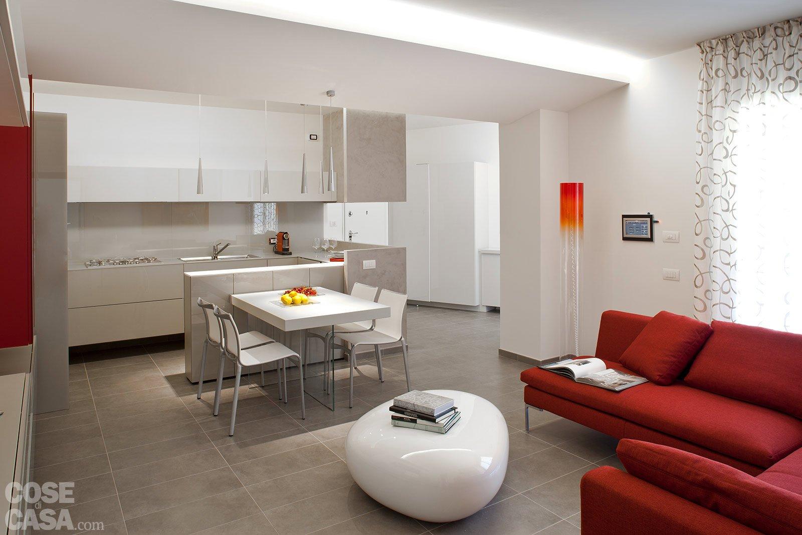Casa Scannella Fiorentini Soggiorno1 #A65B25 1600 1067 Come Arredare Soggiorno Piccolo Con Cucina A Vista