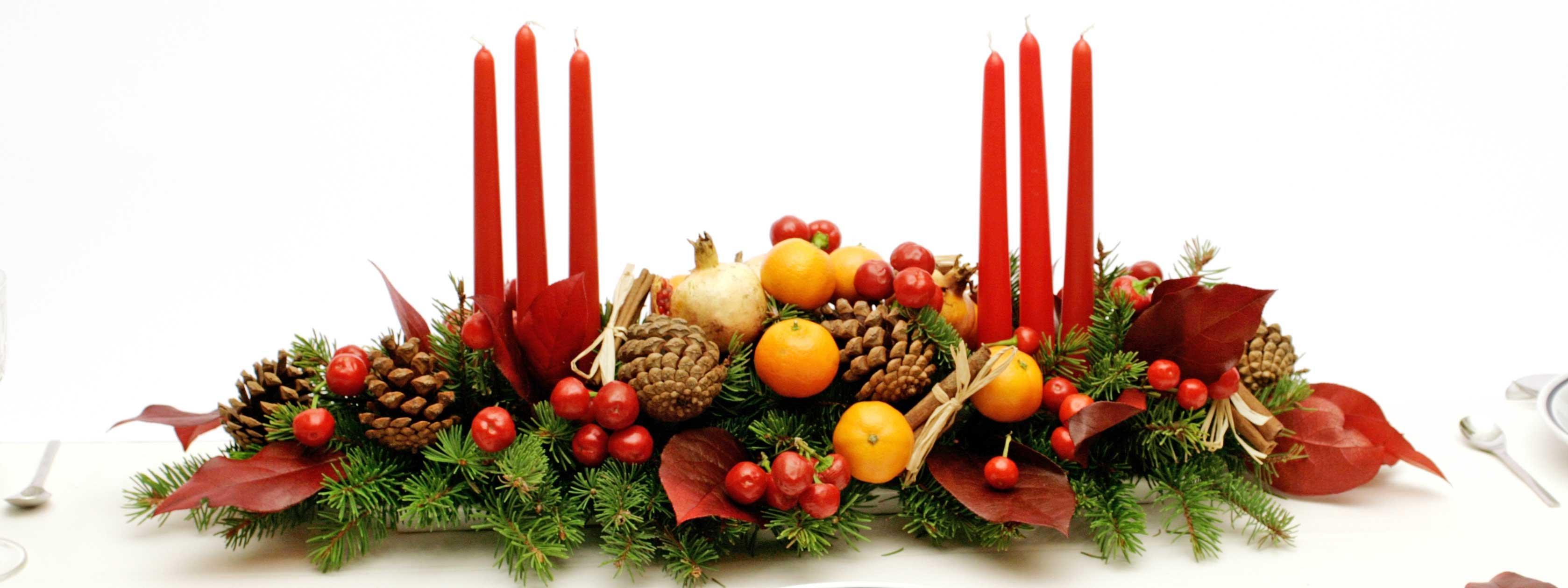 Il centrotavola delle feste cose di casa - Centro tavola con frutta ...