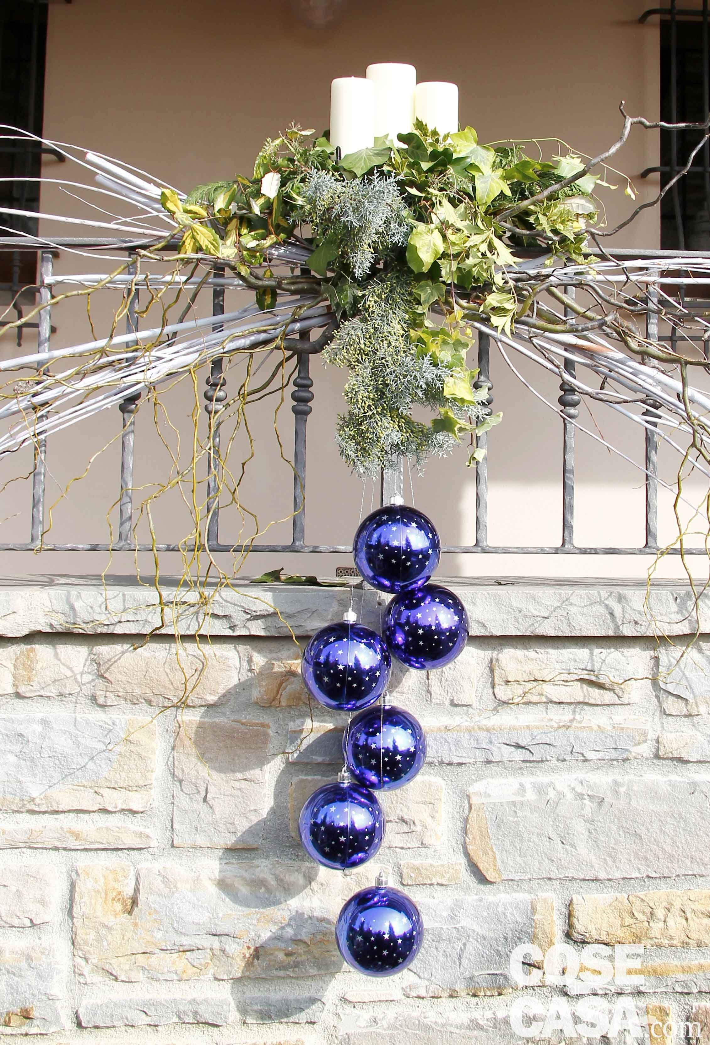 Decorazione natalizia per il balcone cose di casa for Casa decorazioni