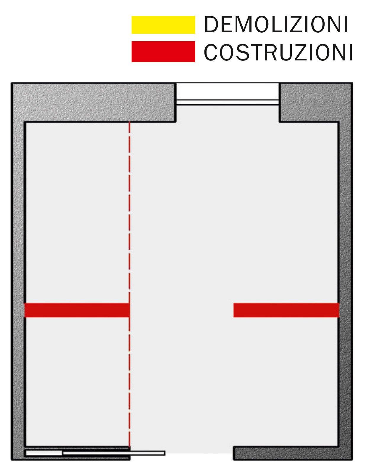 Bagno con pianta del progetto e costi dei lavori prima - Costo impianto idraulico casa 100 mq ...