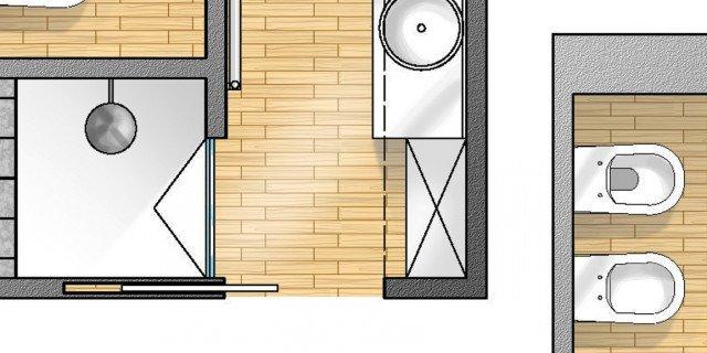 Progetti ristrutturazione bagno cose di casa for Planimetrie del bagno con armadi