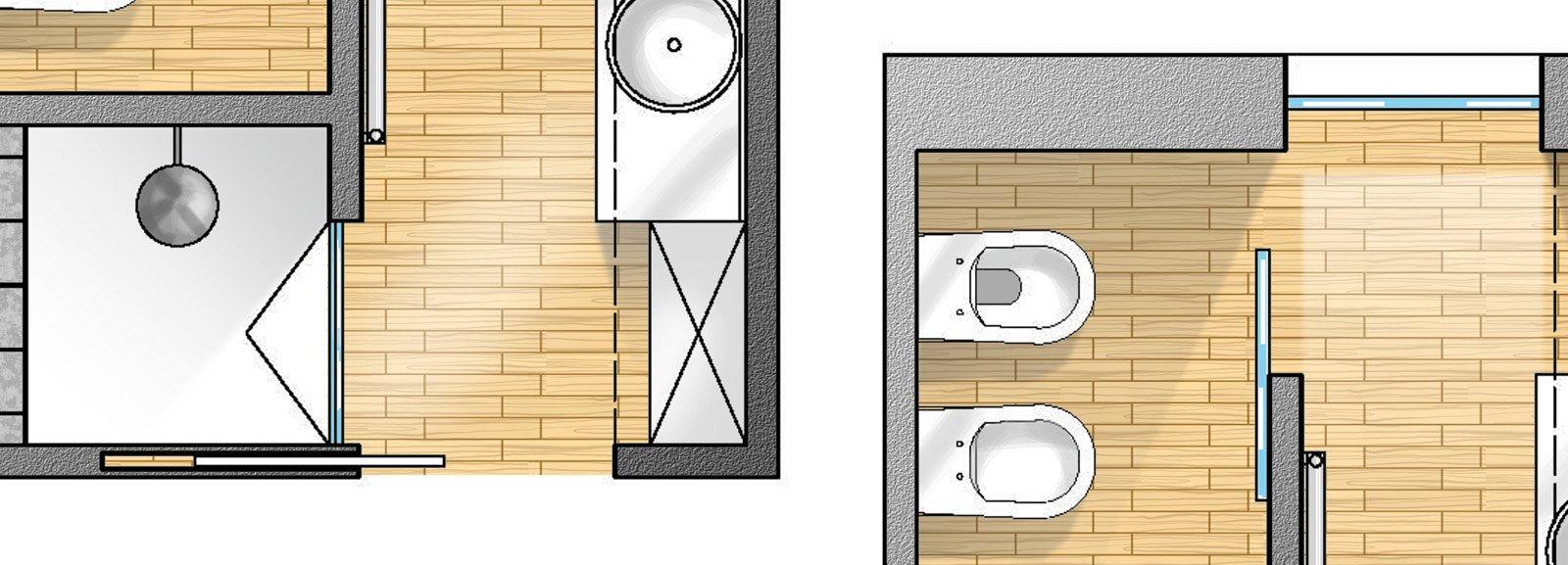 Bagno con pianta del progetto e costi dei lavori seconda for Piccoli progetti di casa castellana