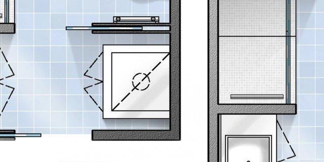 Bagno con pianta del progetto e costi dei lavori prima for Piccole planimetrie di casa di tronchi