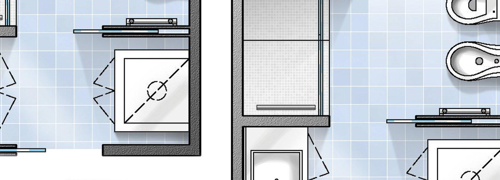 Bagno con pianta del progetto e costi dei lavori prima - Progettare il bagno on line ...