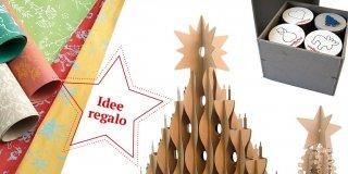 Decorazioni o regali di Natale in carta riciclata