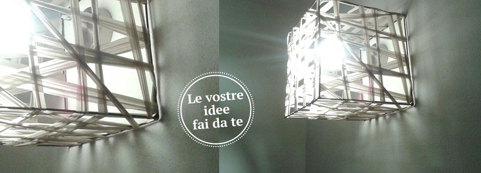 Lampade Giapponesi Fai Da Te : Una lampada al cubo - Cose di Casa