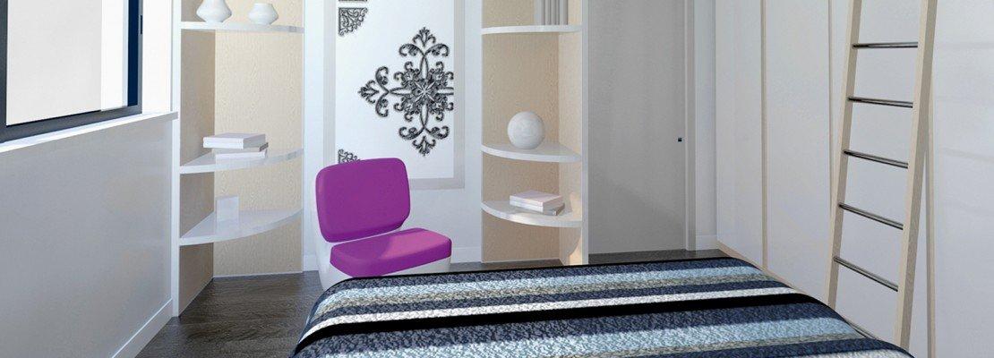 Camera da letto sfruttare l altezza per contenere cose di casa - Altezza tv a parete camera da letto ...
