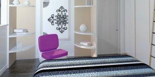 Camera da letto: sfruttare l'altezza per contenere