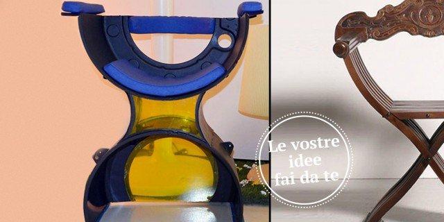 Una sedia con pezzi di recupero… della lavatrice!