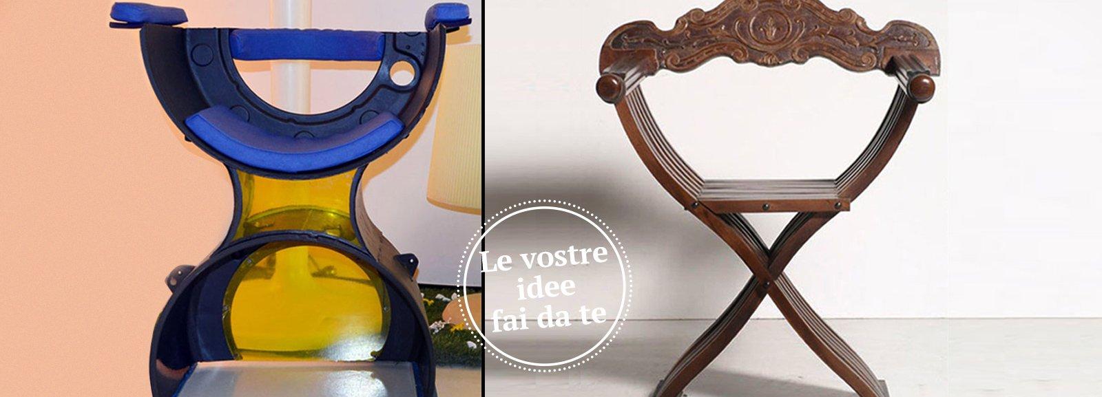 Una sedia con pezzi di recupero della lavatrice cose - Savonarola sedia ...
