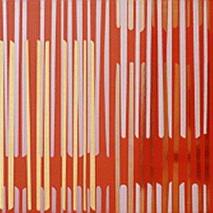 Il decoro rigato in pasta bianca nel formato 32,1 x 96,3 cm, Iva esclusa, al pezzo costa 134 euro Righe rosso - collez. Glossy di Cerim ] www.cerim.it