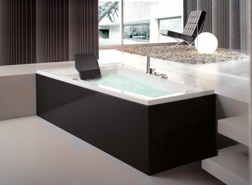 bagno moderno con vasca incassata ~ idee creative su interni e mobili - Bagni Moderni Rossi