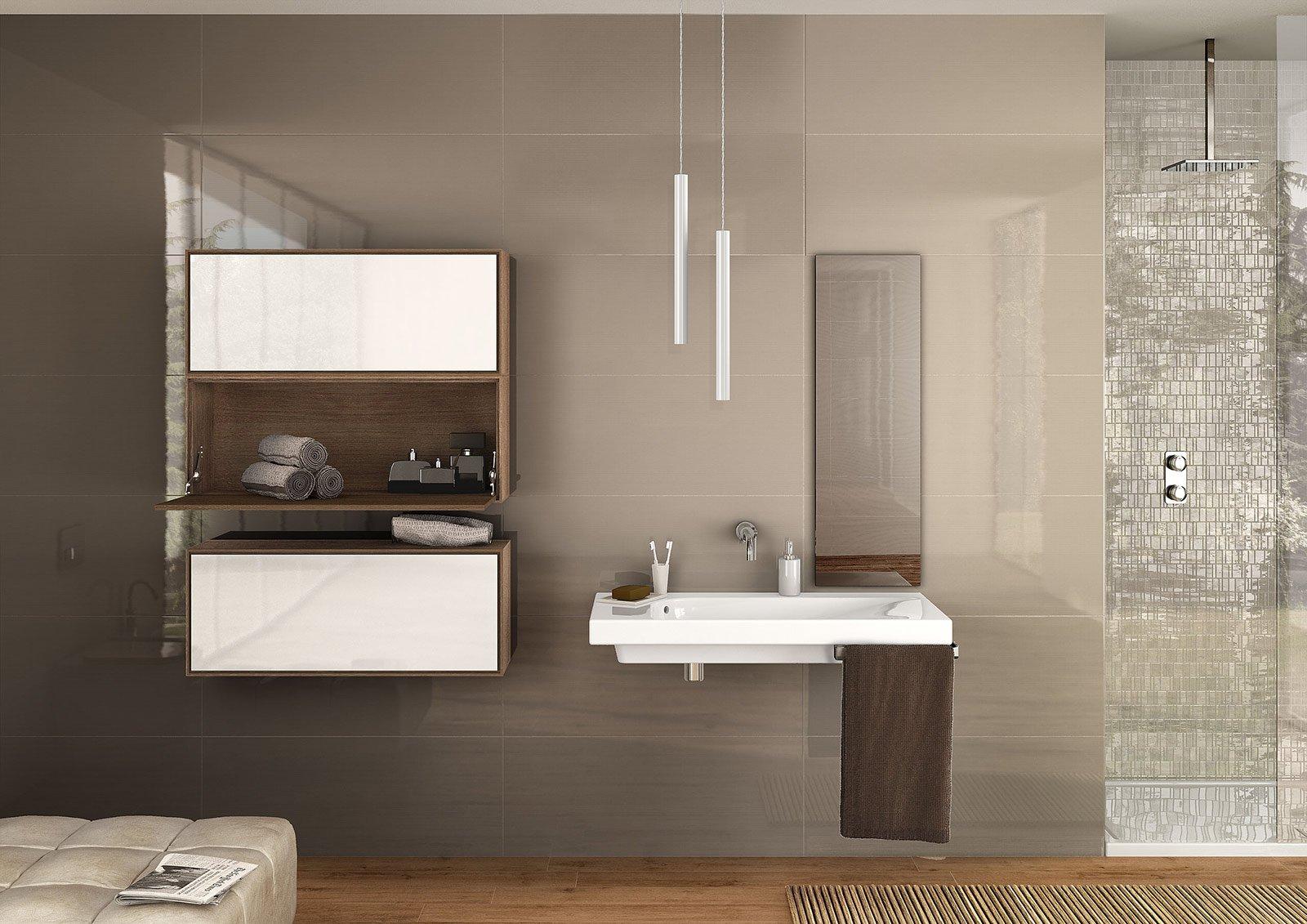 Lavandini per bagno con mobile il lavabo sospeso grandangolo di