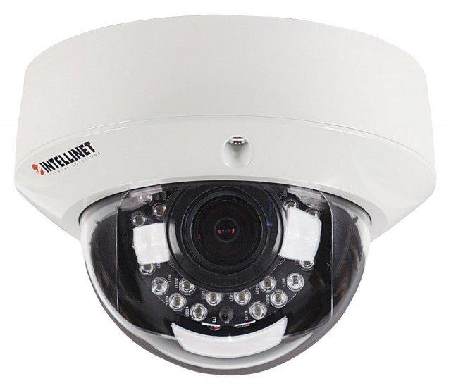 La videocamera INTELLINET IDC-767IR prodotta da IC INTRACOM genera video in modalità diurna e notturna di eccellente qualità anche in condizioni proibitive, con fotogrammi da 1920x1080 pixel di cristallina nitidezza e senza sfarfallii. Dotata di 24 LED a infrarossi, funziona anche nella più completa oscurità. È resistente a urti, intemperie e atti di vandalismo. Installabile ovunque grazie allo standard PoE che ne consente l'alimentazione direttamente dai cavi di rete protetta utilizzati per inviare al cellulare, in streaming simultaneo, le immagini catturate. Prezzo 601,94 euro. www.manhattanshop.it