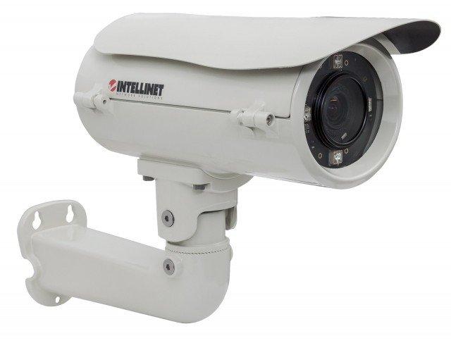 La videocamera INTELLINET IBC-667IR prodotta da IC INTRACOM è dotata di sistema di ventilazione e di riscaldamento che le permette di funzionare in condizioni estreme, a partire da – 40° C. È alloggiata in un housing di alluminio con grado di protezione IP66 e ha audio bidirezionale di sostegno. Il sensore CMOS a scansione progressiva da 2 megapixel ha raggio d'azione dei LED integrati di 35 metri. La regolazione del controluce Wide Dynamic Range (WDR) è automatica. Prezzo 707,81 euro. www.manhattanshop.it