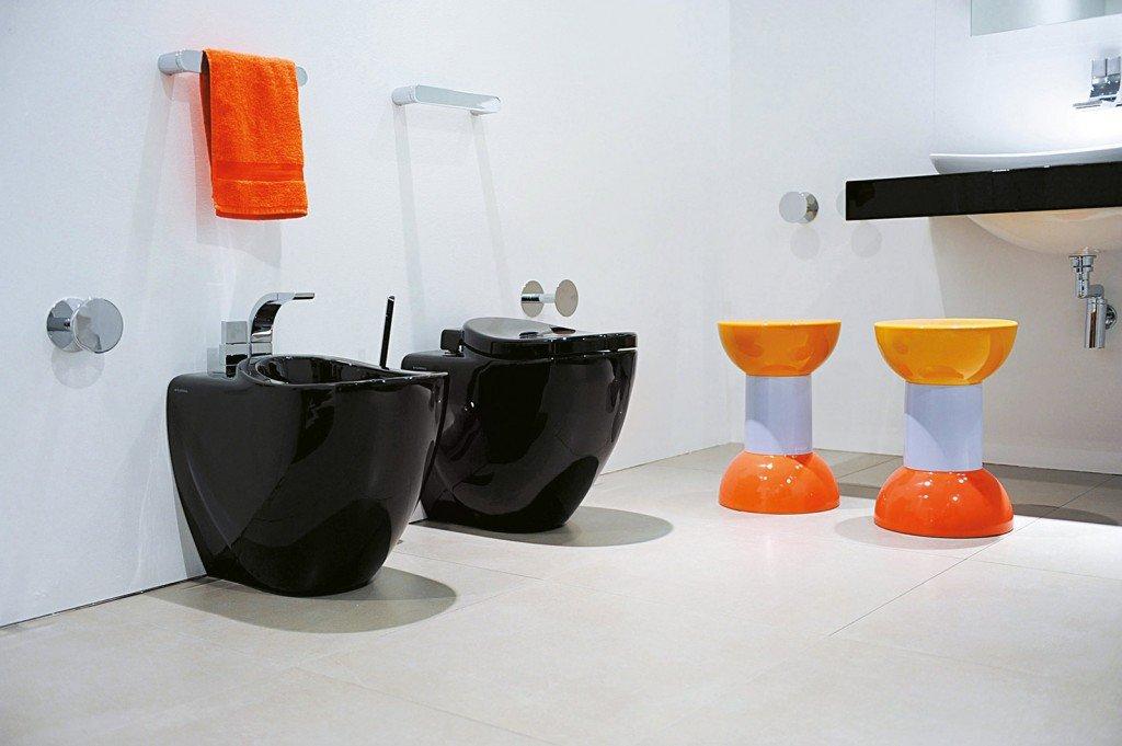 Bagno con un tocco di nero cose di casa - Sanitari bagno flaminia ...