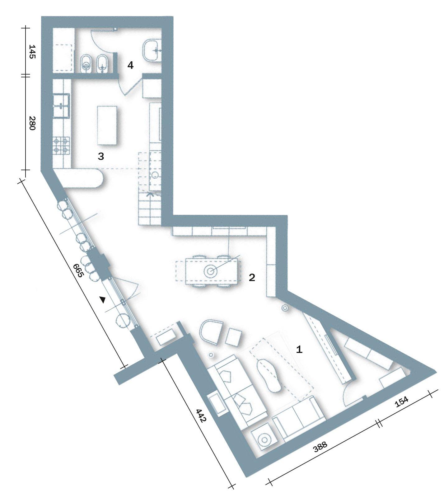 Casabook immobiliare loft una casa rinnovata con tante idee for Disegni di casa piano aperto