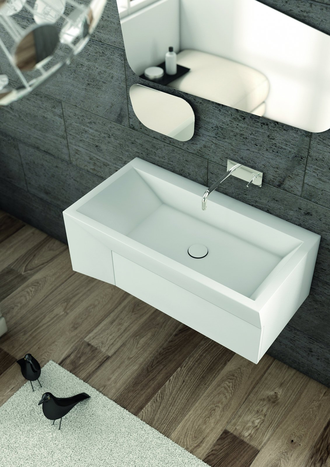 lavabi: sospesi e da appoggio - cose di casa - Lavabo Bagno In Corian Prezzi