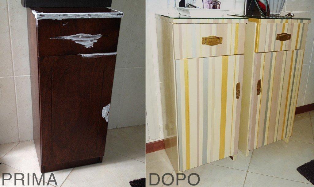 Restyling colorato per un vecchio mobiletto cose di casa - Mobiletti per bagno fai da te ...