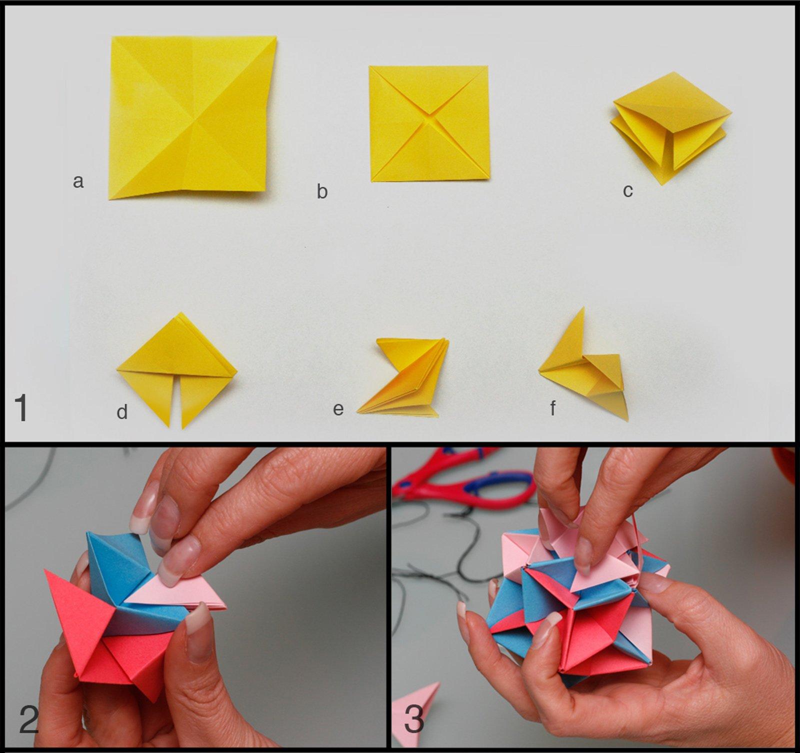 Decorazioni di natale origami cose di casa - Decorazioni per finestre di natale fai da te ...