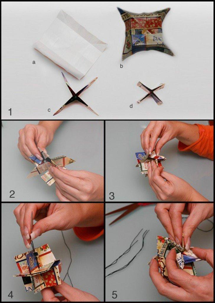 Origami stelle di carta per decorare il tuo natale cose for Cose di casa fai da te