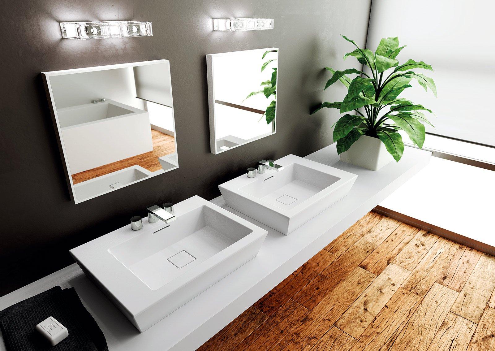 Lavabi sospesi e da appoggio cose di casa for Mobili bagno per lavabo da appoggio