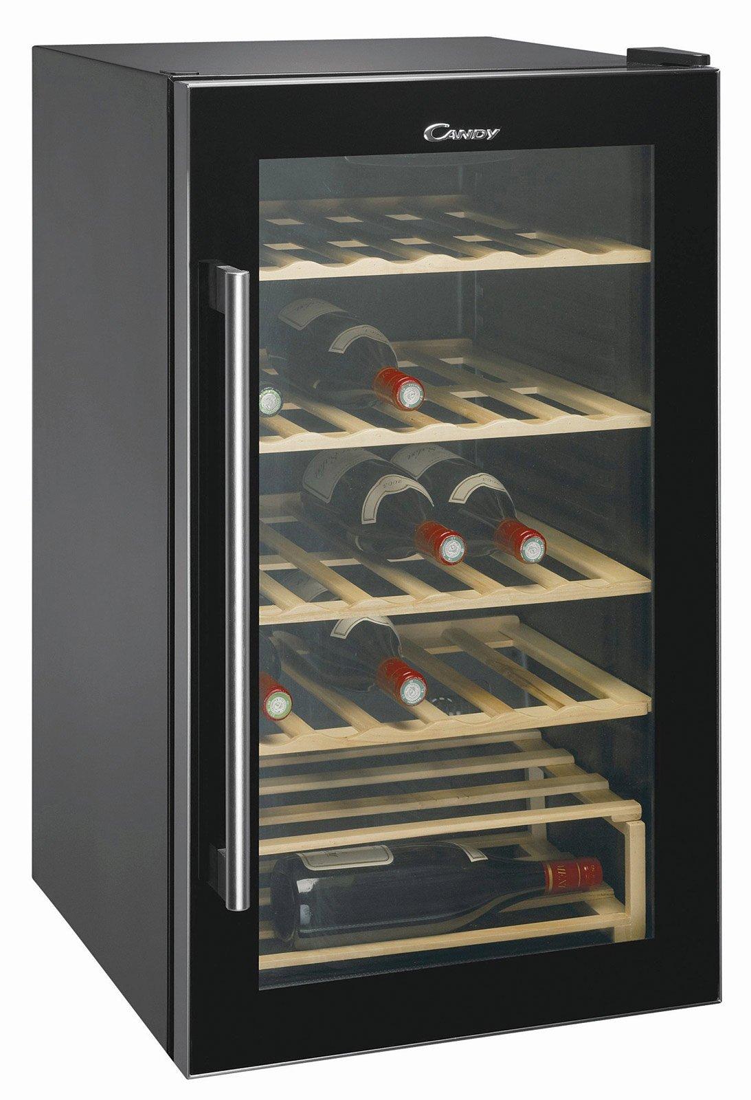 cantinetta vino enoteca privata : Dispone di 4 ripiani in legno regolabili la cantinetta CCV 200 GL di ...