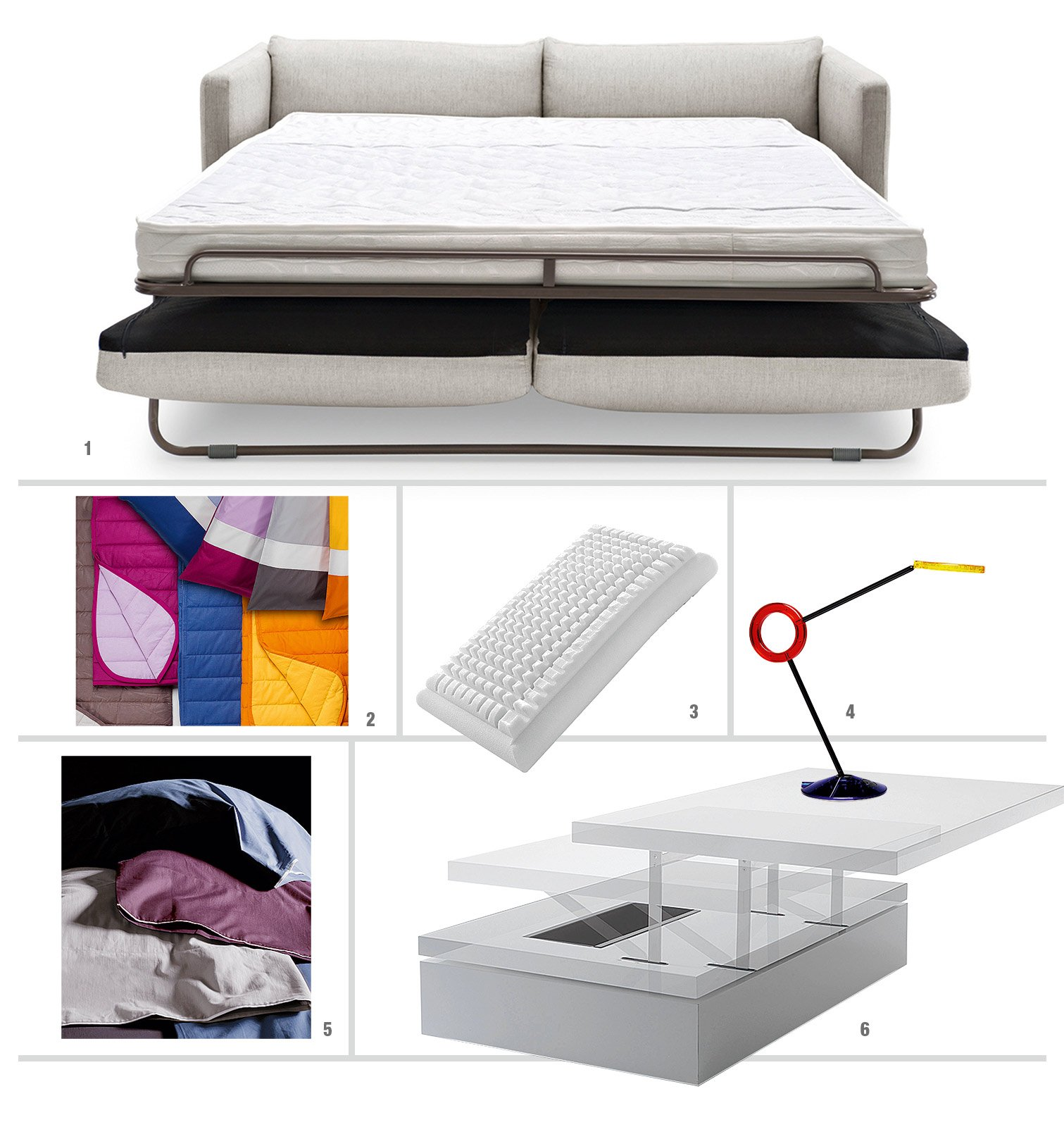 Divano o letto imbottiti trasformabili cose di casa - Divano letto 1 piazza e mezzo ikea ...