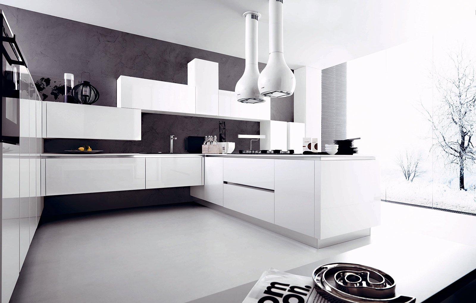 Cucina la voglio tutta bianca cose di casa - Disegni per cucina ...