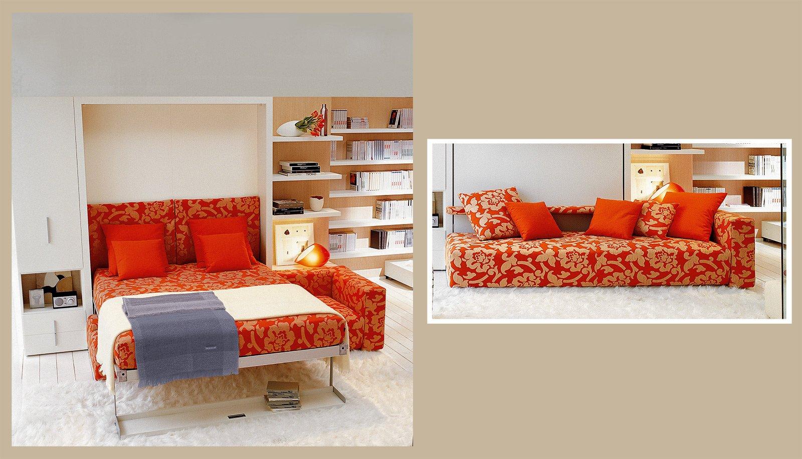Divano o letto imbottiti trasformabili cose di casa - Trasformare letto singolo in divano ...