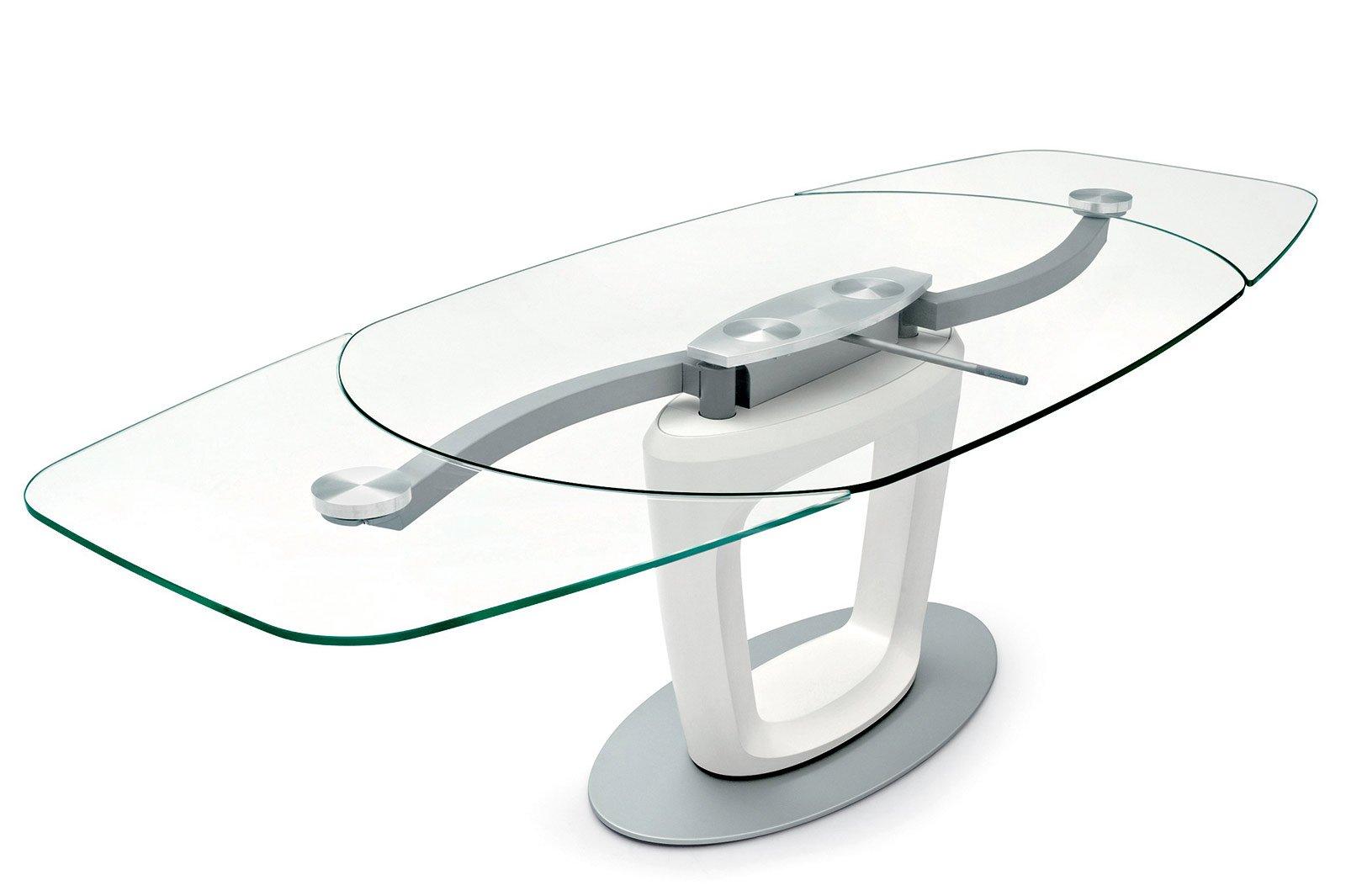 Il Tavolo Orbital Di Calligaris Ha Tutte Le Parti In Metallo A Vista  #175F47 1600 1065 Tavoli Da Pranzo A Consolle