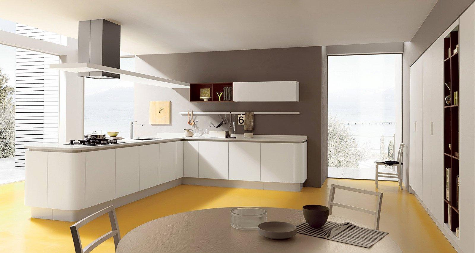 """Del Pensile A Giorno In Finitura Rovere """"cuoio Termico"""" La Cucina  #AE841D 1600 851 Ripiani Per Pensili Cucina Ikea"""