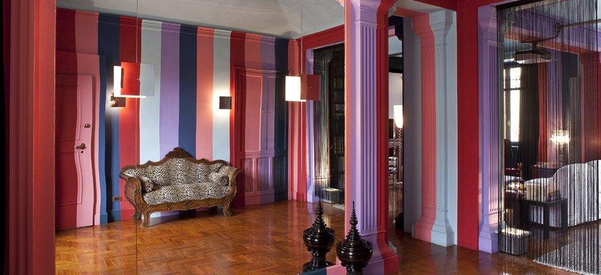 Parete A Righe Viola ~ Ispirazione design casa