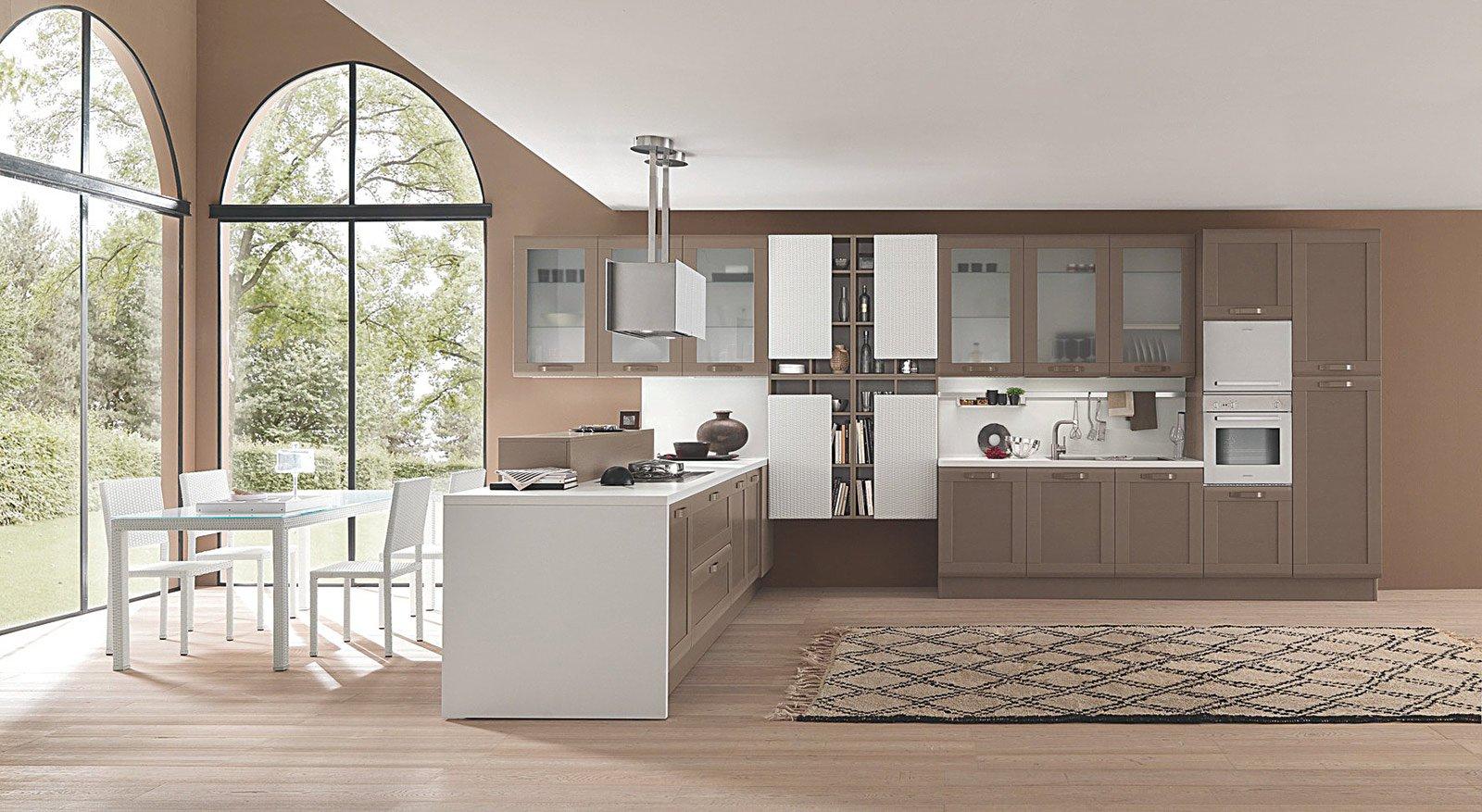 Cucine country stile tradizionale o new classic cose di for Arredamento ciliegio e bianco