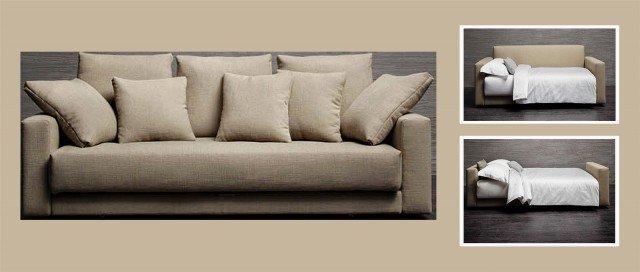 Divano o letto imbottiti trasformabili cose di casa - Divano letto senza braccioli ...