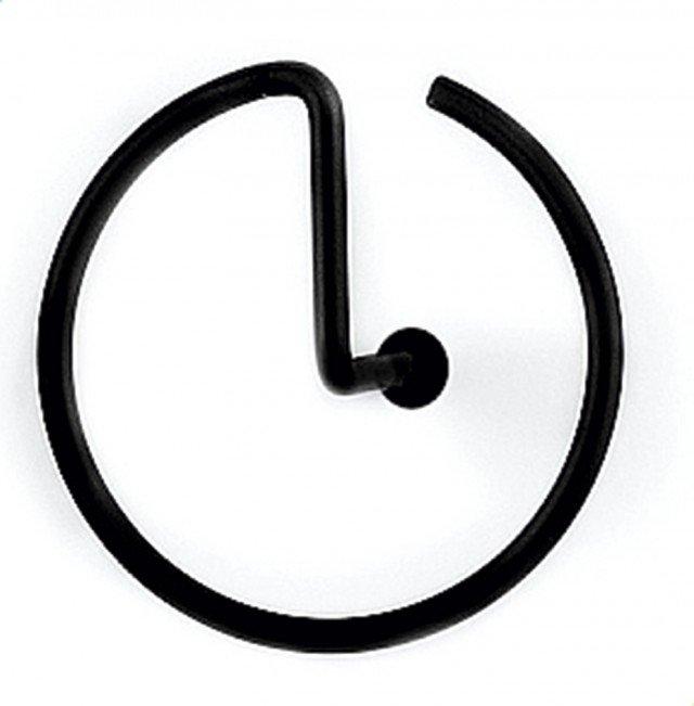 Lineare come un fermaglio, l'appendino da parete in acciaio inossidabile finitura soft-touch può accogliere un mazzo di chiavi, un foglio di appunti oppure capi leggeri; misura Ø 8 cm e costa 14 euro Graffetta di Alessi www.alessi.com