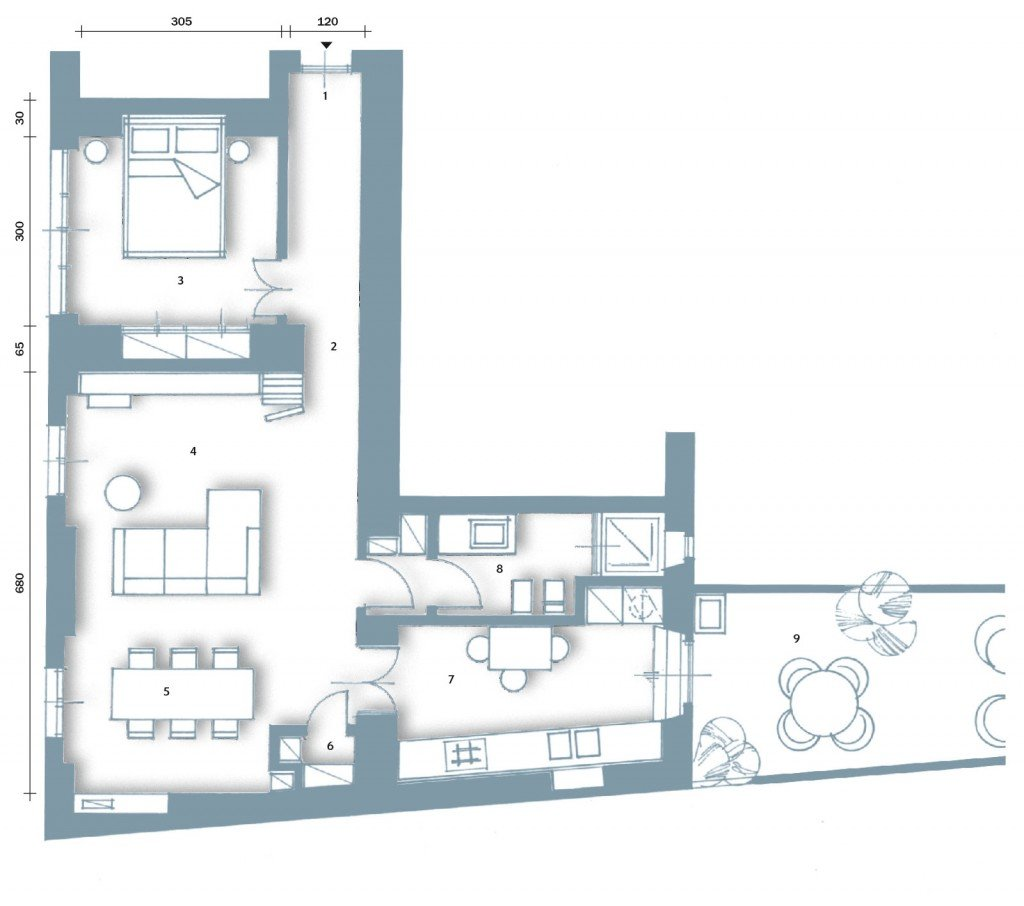 Soggiorno pranzo dwg idee per il design della casa for Soggiorno dwg