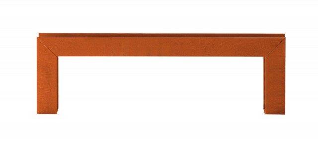 Architettonica,   la lampada da esterno  è in ferro finitura  cor-ten o verniciato.  Bridge di Torremato by Il Fanale  (costa 1.036,9 euro nella misura  L 40 x H 40  cm)