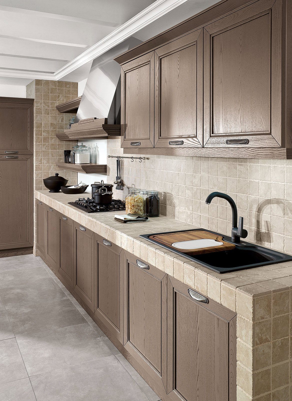 Strutture per cucine componibili cucina in muratura posa - Componibili per cucina ...