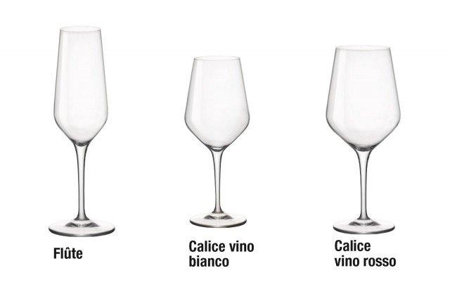Grazie alla composizione chimica del vetro Star Glass calici e bicchieri si distinguono per la particolare trasparenza e brillantezza; il bicchiere per vini bianchi costa 4,88 euro, per rossi 5,70 euro, la flûte 5,80 euro Electa di Bormioli Rocco www.bormiolirocco.com