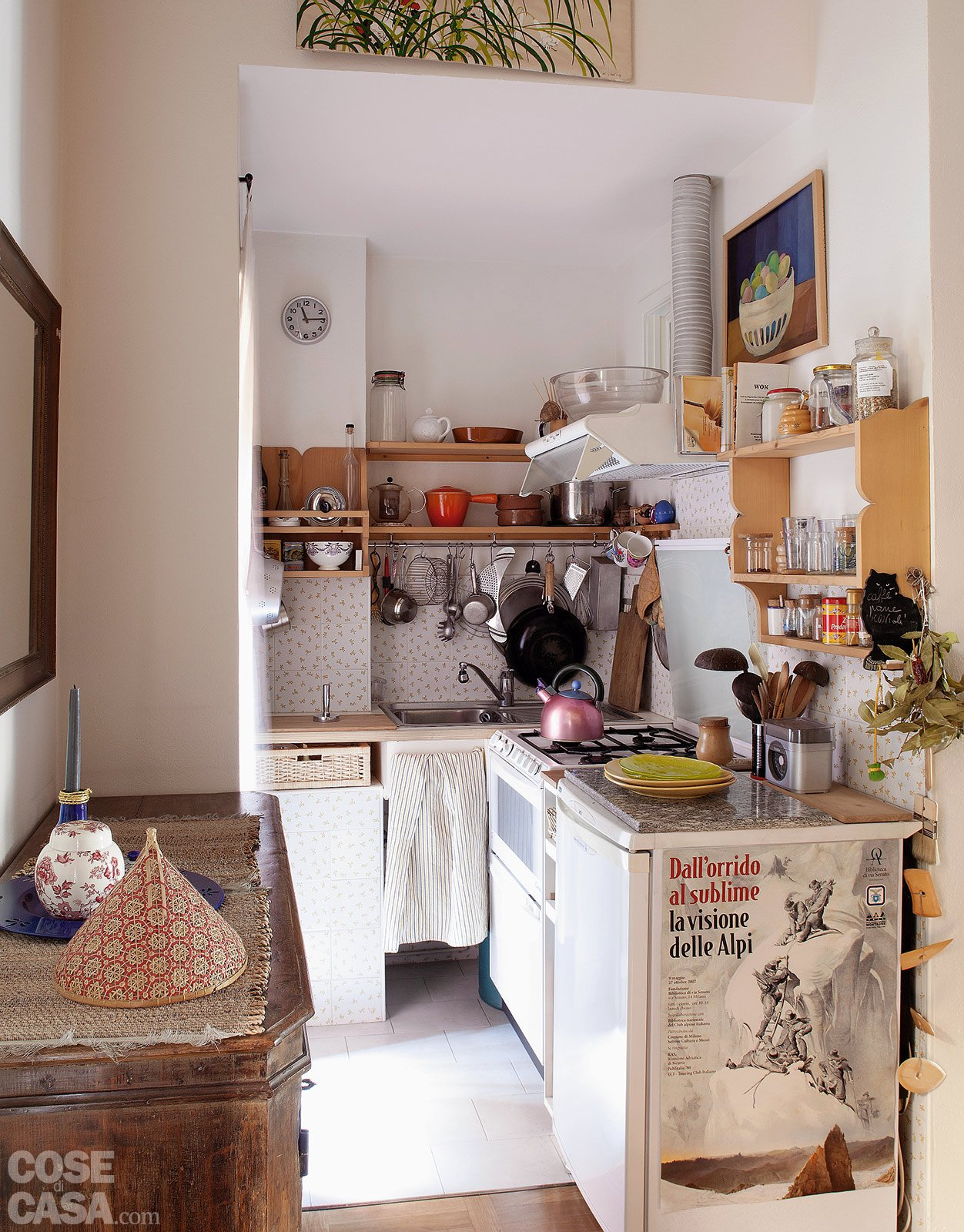 Bilocale di 40 mq una casa fai da te cose di casa - Costruire una cucina con materiali di recupero ...