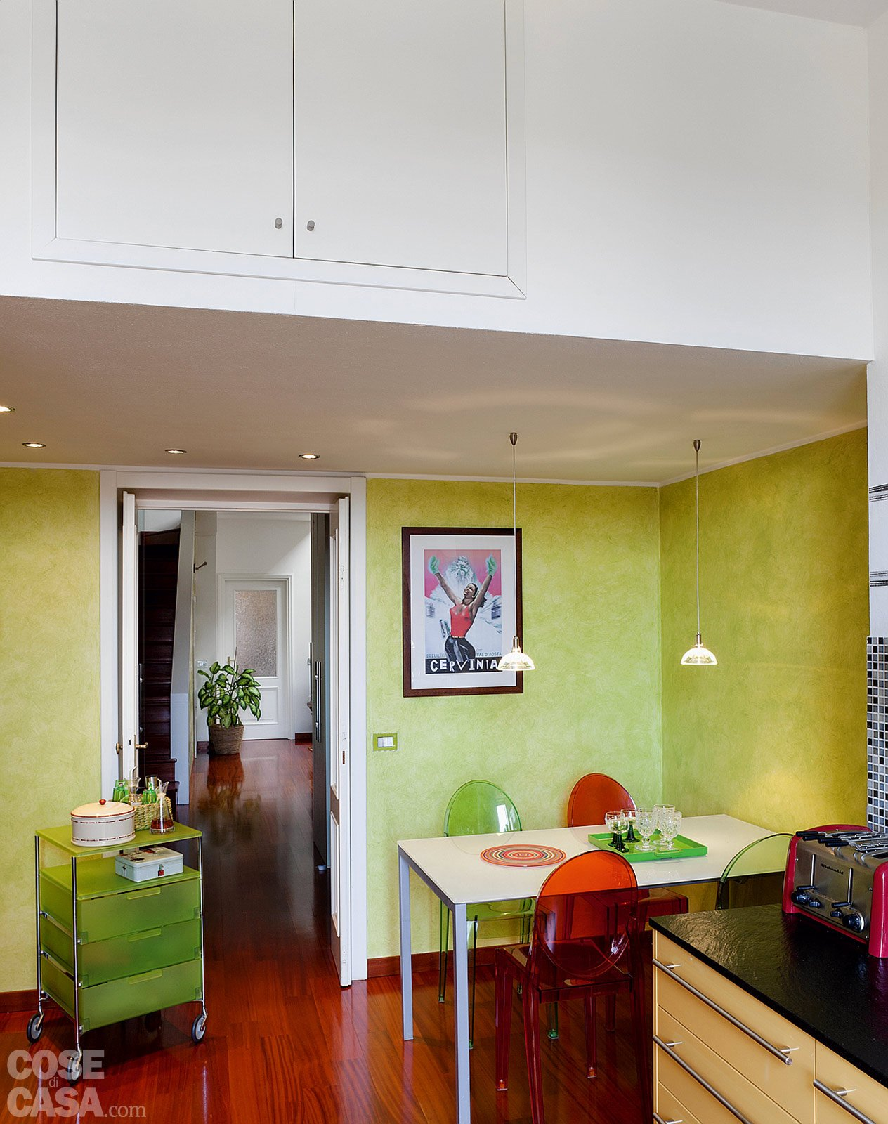Casa Cabrini Fiorentini Passaggio Ripostiglio #792810 1264 1600 Parete Attrezzata Sala Da Pranzo