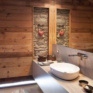 Chalet moderno una casa di montagna in stile rustico - Camere da letto in legno rustico ...